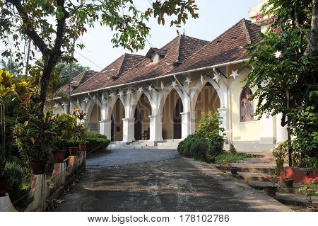 Fort Cochin, India - 16 January 2015: Bisop house at Fort Cochin on India