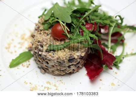 Plate With Meat Salad