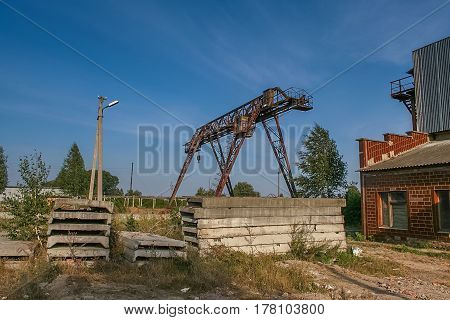 Сonstruction of a brick factory near the city of Borzna of the Chernigov area in Ukraine. September 2007