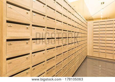 Locker Wooden Mailboxes Postal For Keep Your Information, Bills,postcard,mails Etc