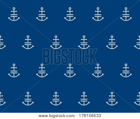 Decorative fabric texture print. Naval deep blue banner background. Flat navy illustration