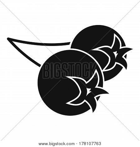 Chokeberry or aronia berry icon. Simple illustration of chokeberry or aronia berry vector icon for web