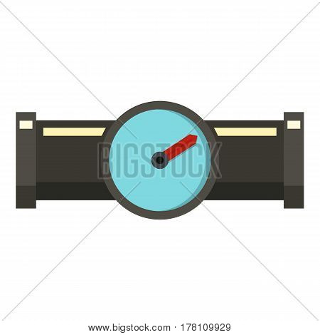 Water meter icon. Flat illustration of water meter vector icon for web isolated on white background