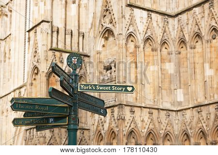 Most of the walks are well signposted in York