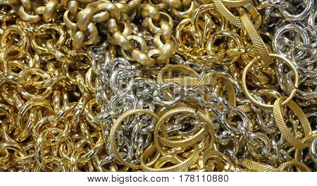 Golden Chains And Necklaces, And Fake Jewelery Ranges For Sale I