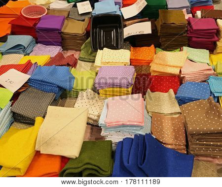many pieces of felted fabric for sale with price