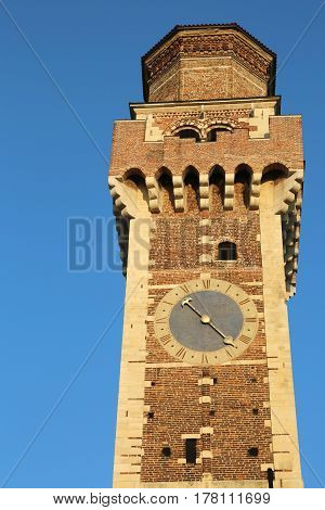 Bell Tower Of An Ancient Church Called Saints Felice And Fortuna