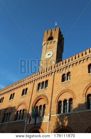 High Tower Of The Palace Of The Three Hundred In Piazza Dei Sign