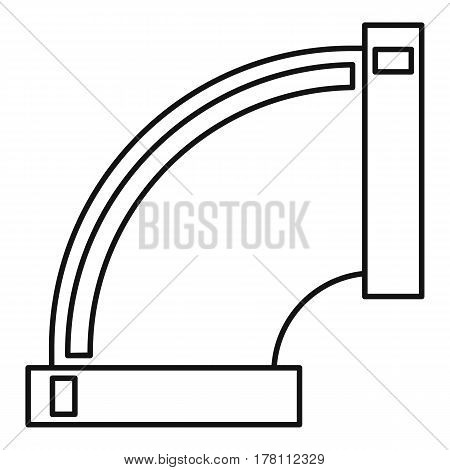 Pipe connection icon. Outline illustration of pipe connection vector icon for web