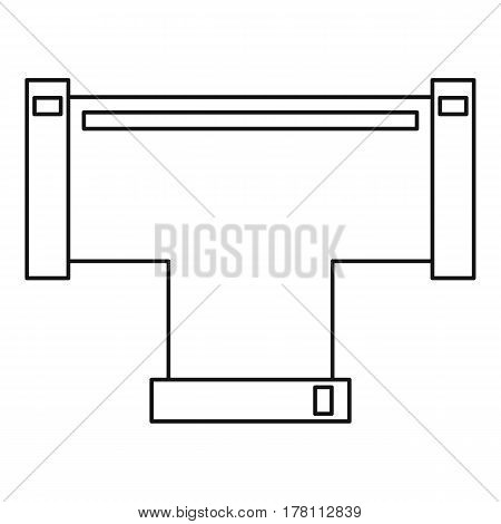 T pipe connection icon. Outline illustration of T pipe connection vector icon for web