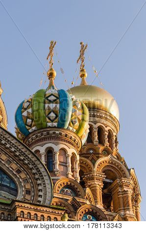 Fragment of Church of the Savior on blood in St. Petersburg