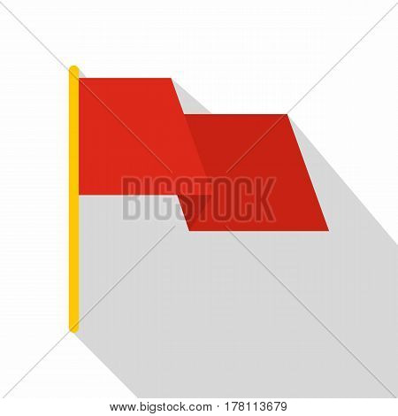Red flag icon. Flat illustration of red flag vector icon for web isolated on white background