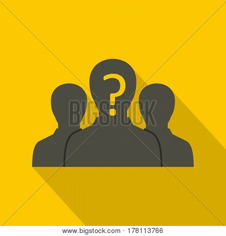 Group of business people icon. Flat illustration of group of business people vector icon for web isolated on yellow background