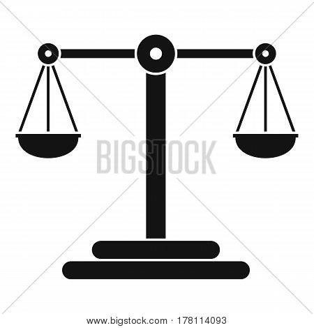 Scales balance icon. Simple illustration of scales balance vector icon for web