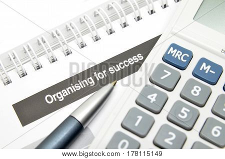 Organising For Success