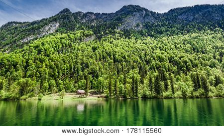 Beautiful Lake Konigssee In The German Alps, Europe