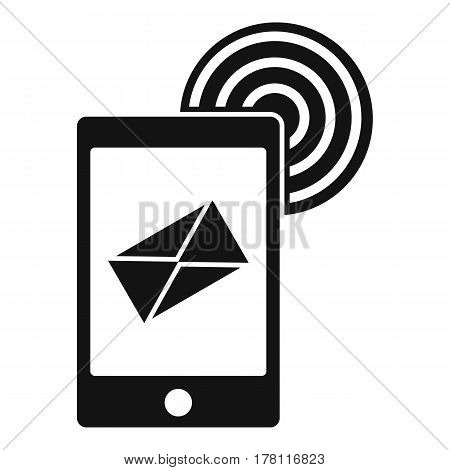 Mobile mail sign icon. Simple illustration of mobile mail sign vector icon for web