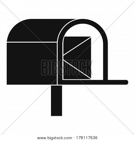 Mailbox icon. Simple illustration of mailbox vector icon for web