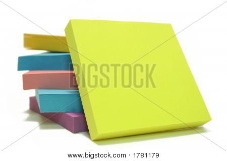 Memo Note On Stack Of Postits