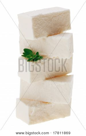 Feta Cheese Cubes With Thyme Twig