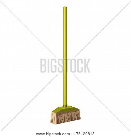 Brush for a floor icon. Cartoon illustration of brush for a floor vector icon for web