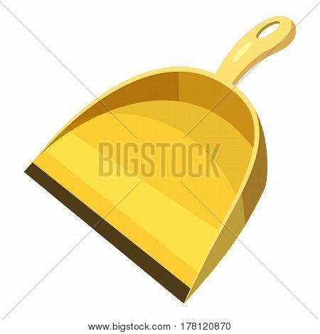 Yellow scoop for cleaning icon. Cartoon illustration of yellow scoop for cleaning scoop for cleaning vector icon for web