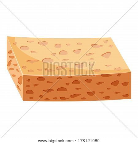 Sponge for cleaning icon. Cartoon illustration of sponge for cleaning vector icon for web