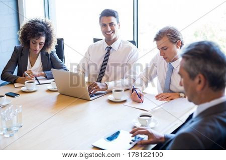 Businesspeople in conference room during a meeting