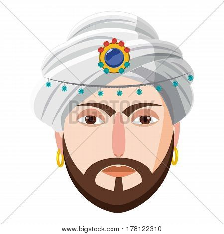 Eastern magician icon. Cartoon illustration of eastern magician vector icon for web