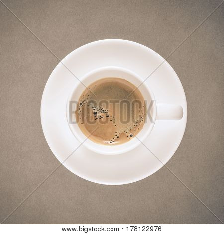 One Coffee Cup On Fine Art Texture With Vintage Colour Style