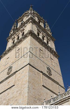 Salamanca (Castilla y Leon Spain): exterior of the medieval cathedral: belfry