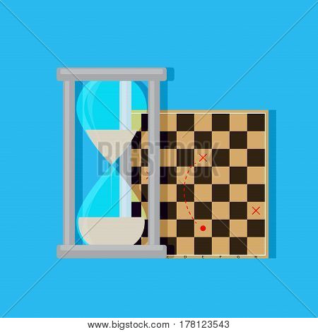 Time Management Strategy. Business success idea solution planning time. Vector illustration