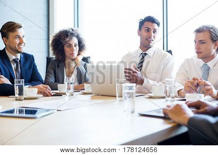 Businesspeople in conference room during a meeting in office