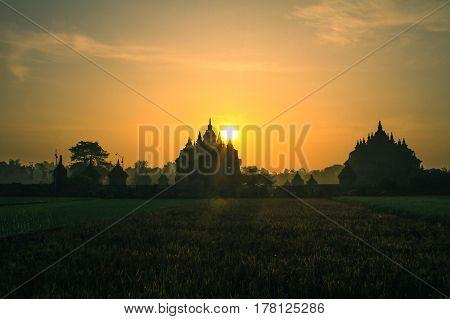 Sunrise at Plaosan Temple, Central Java Indonesia