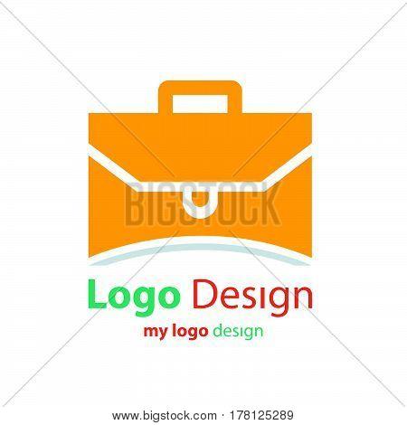 design logo bag orange color vector design support eps10.