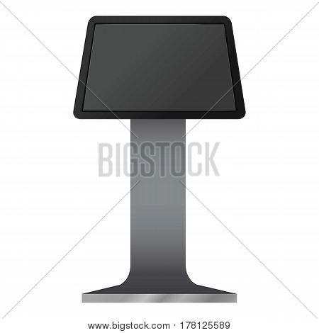 Digital touchscreen terminal mockup. Realistic illustration of digital touchscreen terminal vector mockup for web
