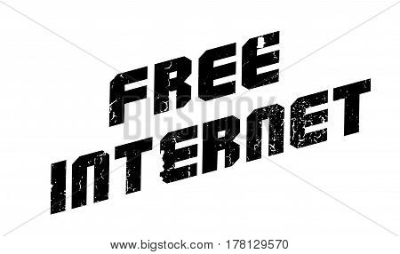 Free Internet rubber stamp. Grunge design with dust scratches. Effects can be easily removed for a clean, crisp look. Color is easily changed.