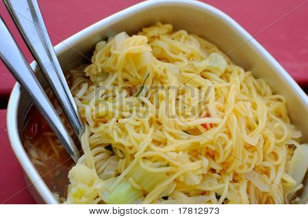 Simple Packed Meal Of Noodles