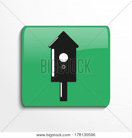 Birdhouse. Vector icon. Conditional vector image in the form of color.