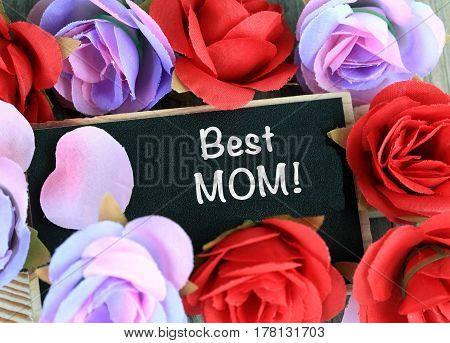 concept of best mom, praise for mother