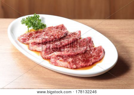 A tasty cuisine photo of raw beef