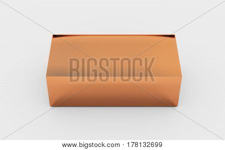 Solid Copper Metal Box Top View