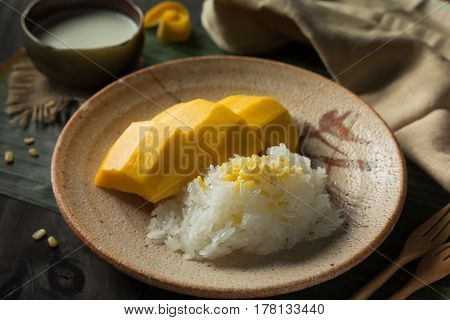 The Sticky Rice with sweet mango and coconut milk