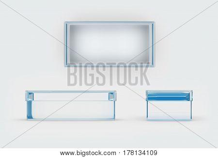 Glass Shoes Box Three Side