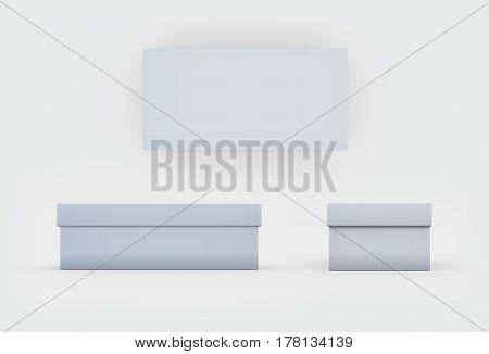 White Shoes Box Three Side