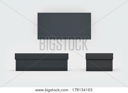 Black Shoes Box Three Side