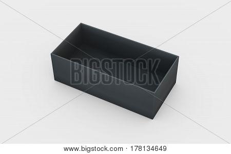 Black Plastic Box Tray View