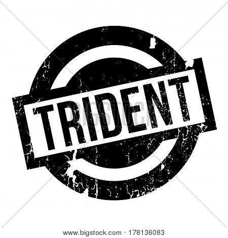 Trident rubber stamp. Grunge design with dust scratches. Effects can be easily removed for a clean, crisp look. Color is easily changed.