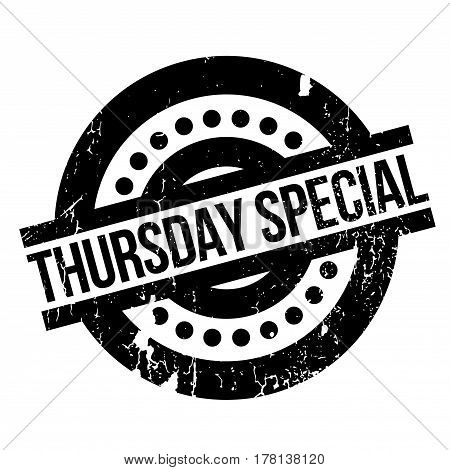 Thursday Special rubber stamp. Grunge design with dust scratches. Effects can be easily removed for a clean, crisp look. Color is easily changed.