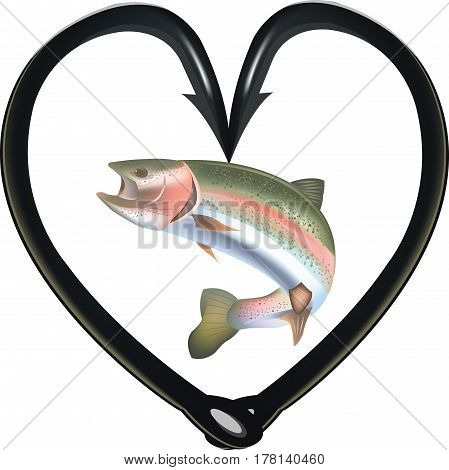 Hooks to heart fishing predatory fish Hooks to heart fishing predatory fish